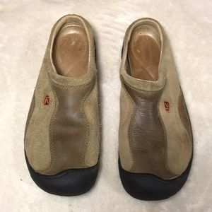Keen slip on tan shoes size 8.5